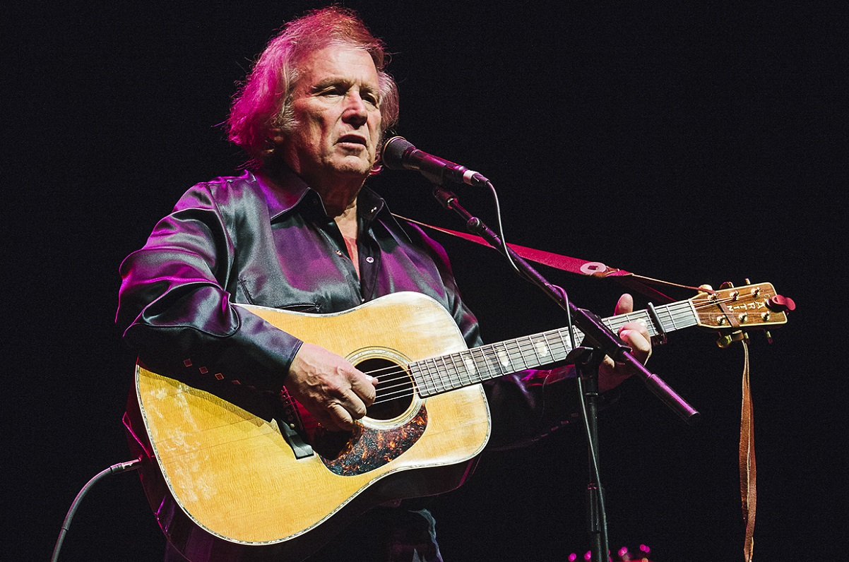 YORK, ENGLAND - MAY 15:  Don McLean performs on stage at York Barbican on May 15, 2015 in York, United Kingdom  (Photo by Andrew Benge/Redferns via Getty Images)