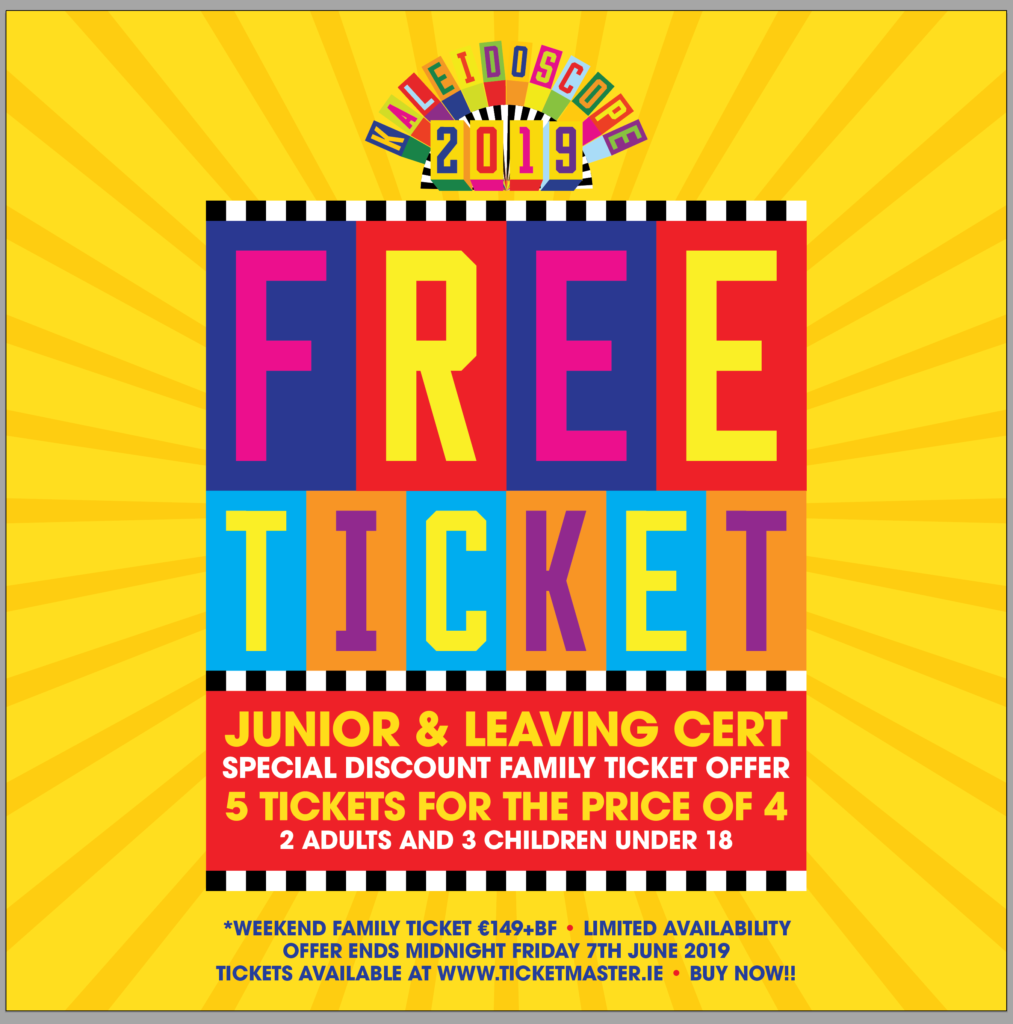 Free Tickets Available For Students To >> Free Ticket For Junior And Leaving Cert Students With Every